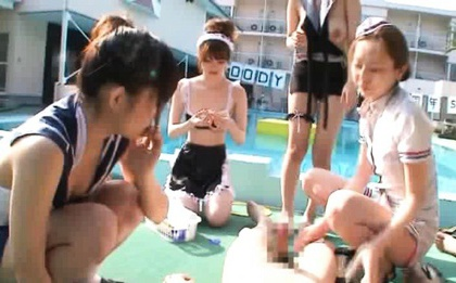 Hot Japanese girls enjoy plenty of cum